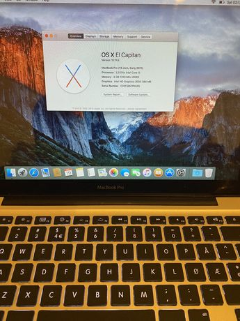 MacBook pro 13 early 2011 Intel core i5 2.3ghz