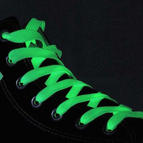 Светящиеся шнурки Флуоресцентные шнурки 80 см Светятся в темноте