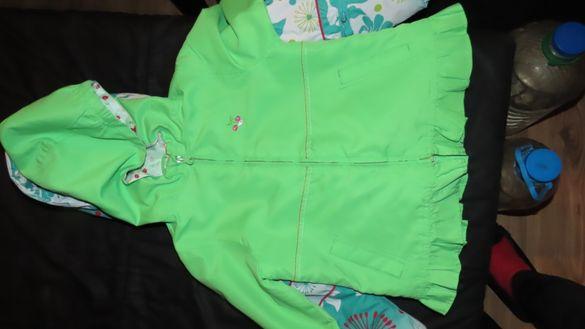 Шлифер и дънково яке за момиченце, ръст до 110 см.