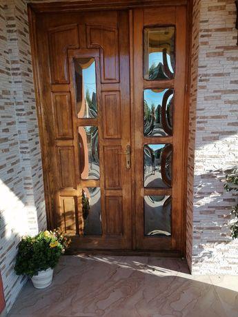 Ușă lemn masiv intrare