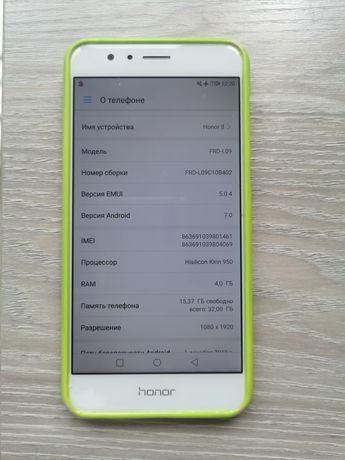 Honor 8 4/32gb, белый, все работает