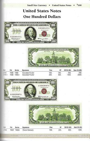 Carte United States Paper Money, catalog numismatic bancnote, color