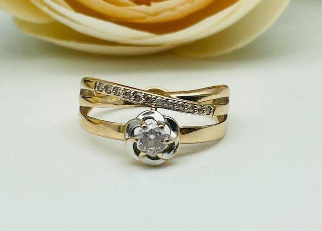 0% Кольцо с камнями , золото 585 Россия, вес 1.90 г. «Ломбард Белый»