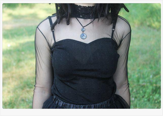 Bluza cu plasa neagra Rock Goth Punk