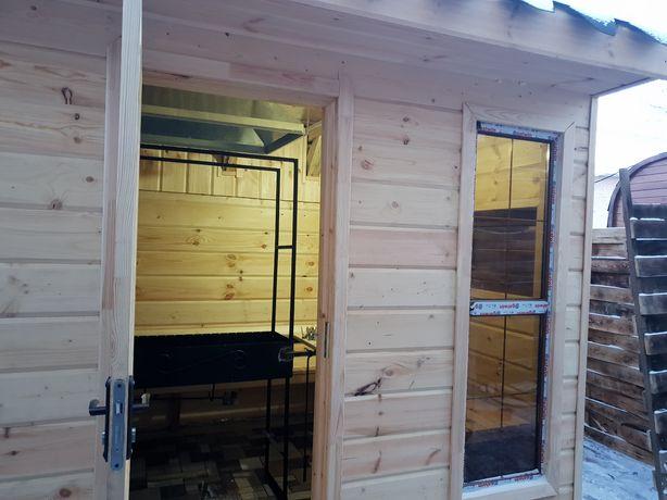 Кедровая баня на дровах