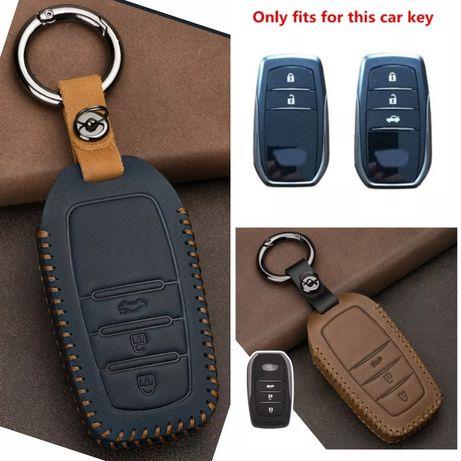 Кожен калъф за ключ Toyota Hilux Land Cruiser Fortuner