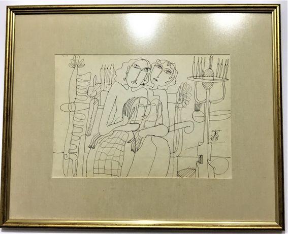Pictura Tablou Gheorghe Iliescu Calinesti ,,Fete''