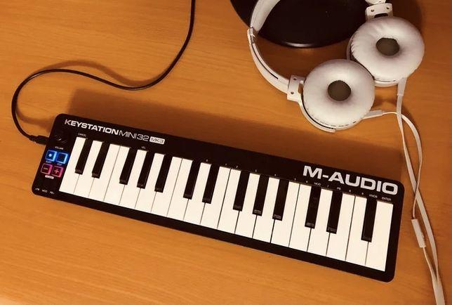 Midi клавиатура 2.5 октав m-audio keystation 32 mini