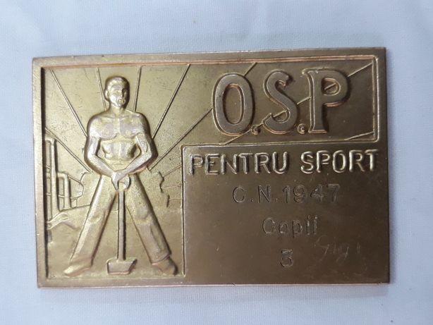 Placheta bronz O. S. P.