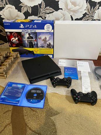 Sony Ps 4 SLIM + 2 джойстика , диск / полный комплект ! Playstation