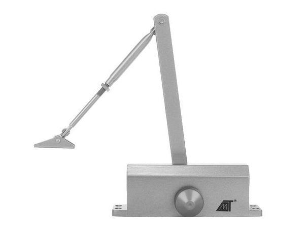 Amortizor cu brat pentru usa, 65-80kg, argintiu