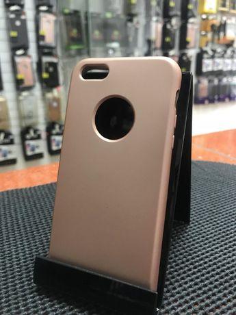 Husa Apple iPhone 5/5S/SE, slim antisoc Rose-Gold, PRODUS NOU