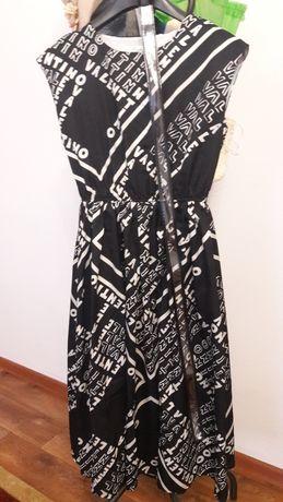 Платье легкое, с брендовыми принтами