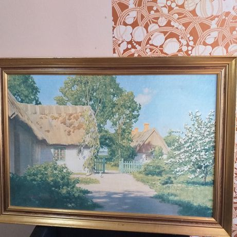De vânzare tablou 100 ani vechi pe pânză semnat- Johan Krouthen 1924