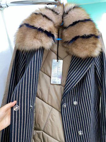 Пальто куртка новый . Альпака турецкий 44 пен  50размер бар