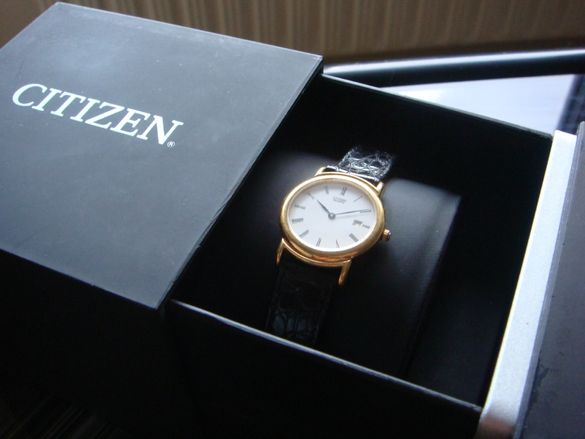 Citizen 14k Gold Plated позлатен дамски часовник