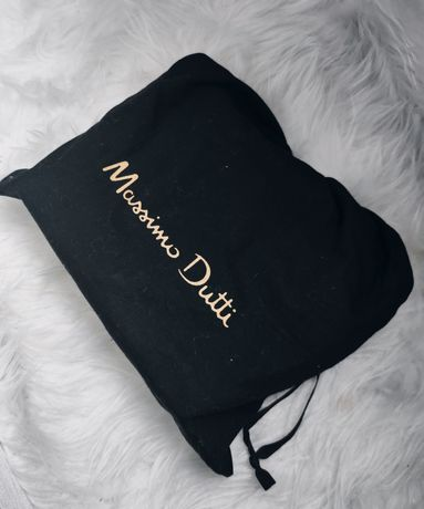 Massimo Dutti дамски чанта синя естествена кожа
