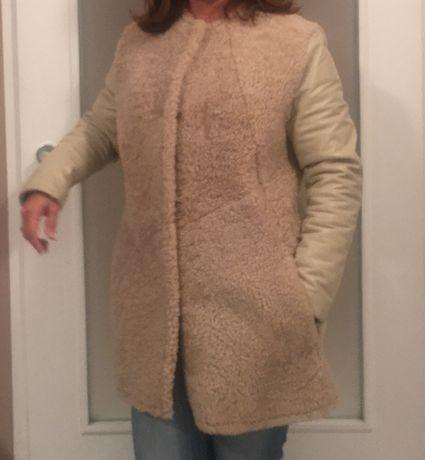 Дамско кожено палто и кожен елек от заек