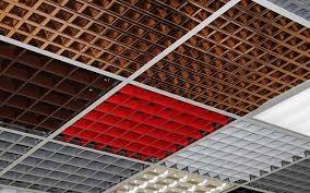 Монтаж подвесного потолка грильято, армстронг