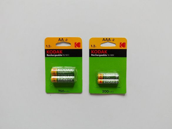 Акумулаторни батерии KODAK, два вида - АА и ААА