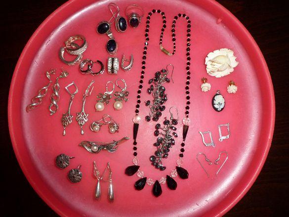 сребърни закопчалки за обеци и обеци