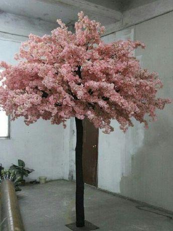 Изкуствено Дърво с Розови листа