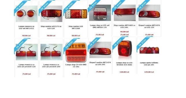 Lampi stopuri cu LED camioane utilitare platforme remorci rulote