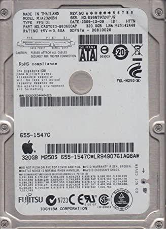 "Hard SATA Defect HEALTH SCAZUT Laptop 2,5"" FUJITSU 160 250 GB 320 giga"