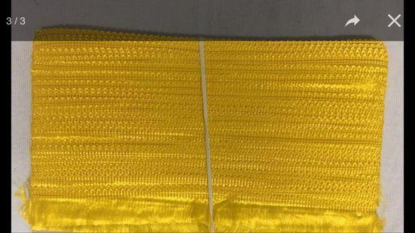 Стар ширит шевица плетена за народна носия престилка украса