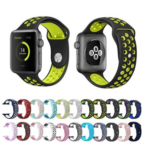 Силиконова каишка Дишаща Nike Apple Watch 44mm 42mm 40mm 38mm