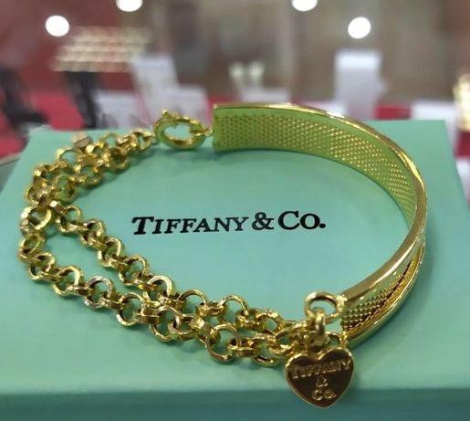 Золотой браслет Тиффани