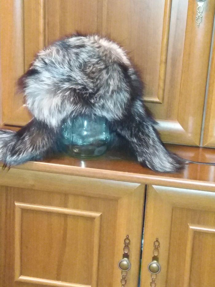 Шапка ушанка чернобурка Аксу - изображение 1