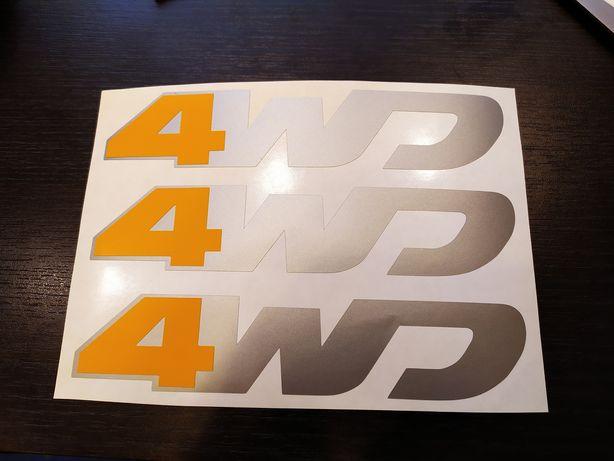 Sticker 4WD Duster vechiul model/ABS Plus