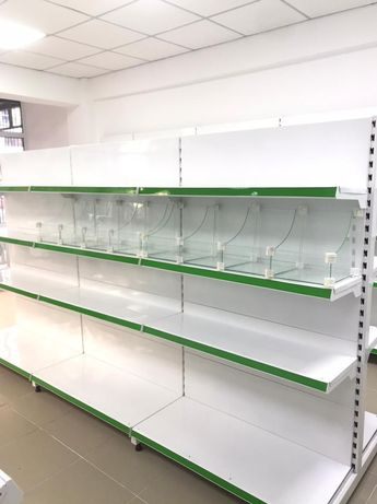 Стеллаж, витрина, полки, торговые стеллажи для магазинов и супермаркет