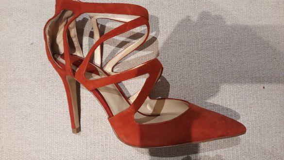 Zara / зара обувки 39 естествен велур