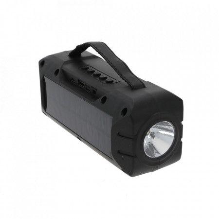 Boxa portabila cu Incarcare Solara si Lanterna, Suport USB, TF, FM, Bl