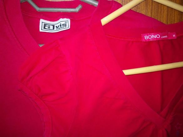 3 червени блузки