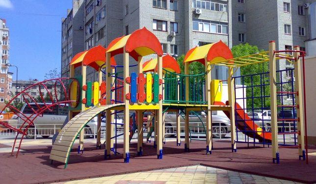 Детская Игровая Площадка, Комплекс Туркестан (горка, песочница качели)