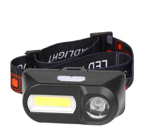 Lanterna frontala reincarcabila USB 18650, XPE+COB LED, camping