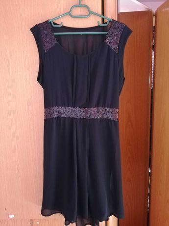Rochie neagră cu paiete handmade
