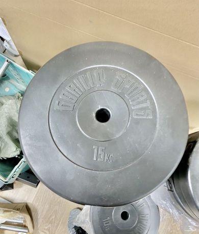 Discuri haltera gantere 15 kg noi diametru 30 mm noi made germany