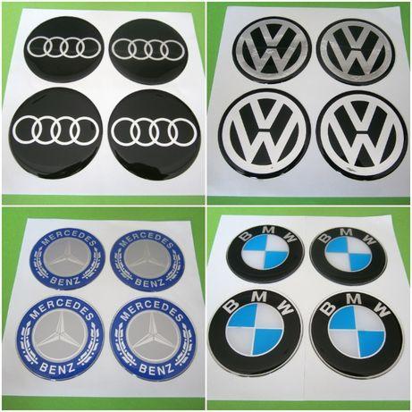 Стикери за Капачки за Джанти за Тасове Силиконови VW BMW AUDI MERCEDES