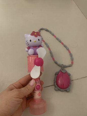 Jucarii pentru fetite-amuleta muzicala, ventilator de mana Hello Kitty