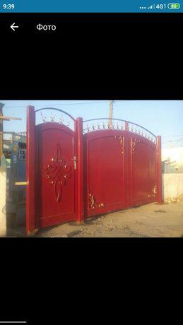 Покраска и реставрация ворот.