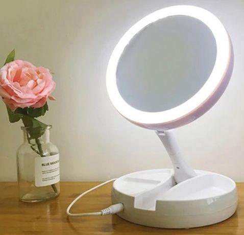 Зеркало светильник двухстороннее с подсветкой .Подарок девушке.