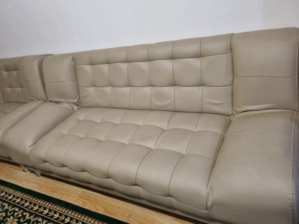 Удобные 3 дивана эко-кожа, раскладная