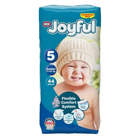 Scutece copii, Joyful, 44 bucati, Marime 5, Junior, 11-25 Kg