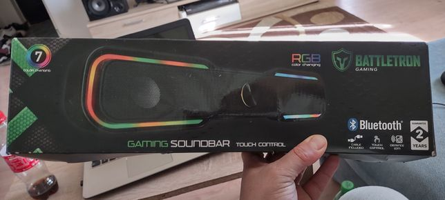 Soundbar gaming rgb bluetooth