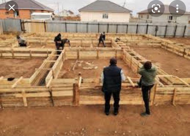 Бригада узбеков кладка фундамент крыша