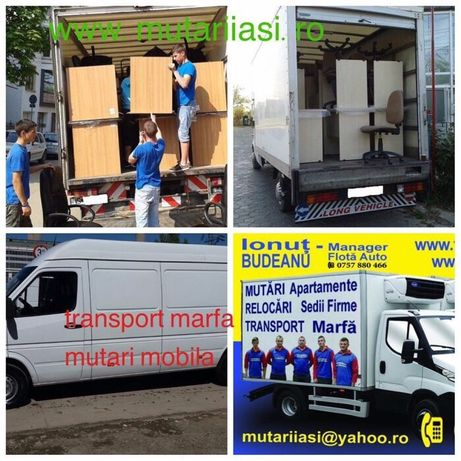 Transport Marfa Mutari Mobila debarasare mobila, oameni la incarcat !